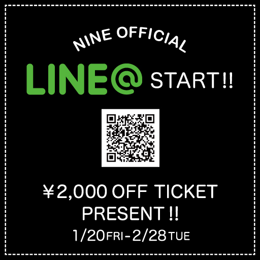 NINE OFFICIAL LINE@ START!!